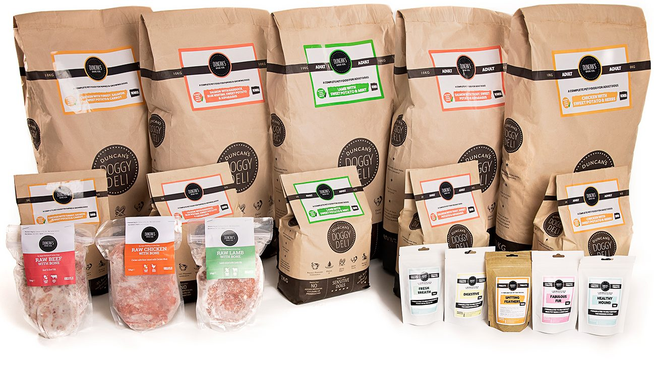 Duncan's Doggy deli full range